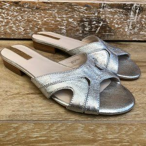 {Kenneth Cole} Silver Viveca Sandals